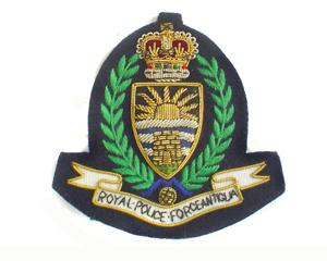 ANTIGUA POLICE CAP BADGES ON DARK NAVY (4334435860552)