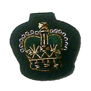 "CROWN - ARM 7/8"" ROYAL GREEN JACKETS ON RIFLE GREEN (4334361804872)"