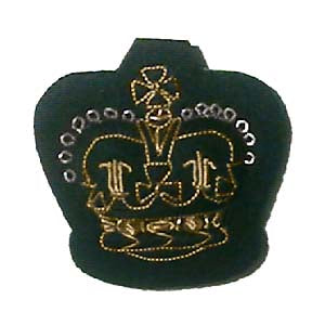 "CROWN - ARM 1"" ROYAL GREEN JACKETS ON RIFLE GREEN (4334364590152)"