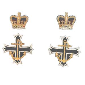 ROYAL NAVY CHAPLAINS SCARF BADGES (QUEEN'S CROWN) (4334370422856)