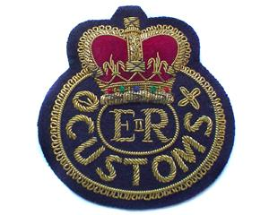 COOK ISLANDS CUSTOMS CAP BADGE ON DARK NAVY (4334436286536)