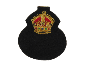 RAF Chaplain's Beret Badge with King's Crown (4344137351240)