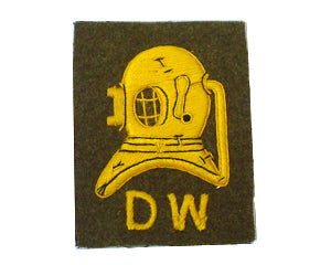 DIVERS HELM FULL SIZE S.W. OR D.W. ON KHAKI (4334323335240)
