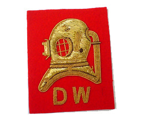 DIVERS HELM FULL SIZE S.W. OR D.W. ON NAVY OR RED (4334323793992)