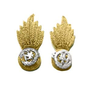 ROYAL REGIMENT OF FUSILIERS MESS COLLAR BADGES (4334352007240)