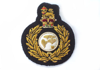 ROYAL MARINES BERET BADGE ON DARK NAVY (4334373601352)
