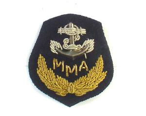 MAURITIUS MARINE AUTHORITY CAP BADGE - SMALL ON BLACK (4334437269576)