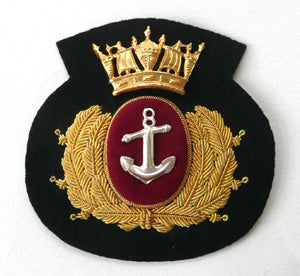 MERCHANT NAVY CAP BADGE - BLACK CROWN CUSHION (4344132599880)