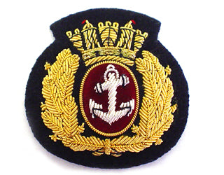 MERCHANT NAVY BERET BADGE IN WREATH ON BLACK (4344132927560)