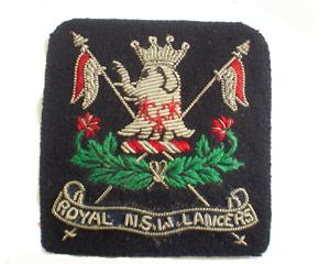 NEW SOUTH WALES LANCERS BERET BADGE (4334403485768)