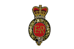 Royal Postillion Arm Badge - Full Dress (Red Centre) (4334642298952)