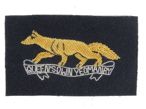 QUEENS OWN YEOMANRY BERET BADGE (RUNNING FOX)