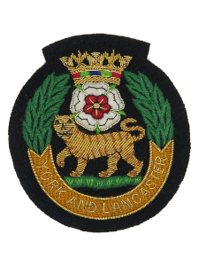 YORK AND LANCASTER REGIMENT BLAZER BADGE (4334348501064)