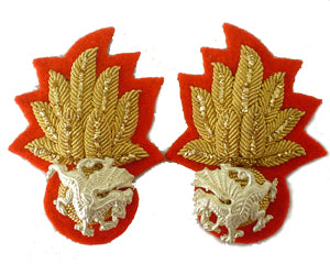 ROYAL WELSH FUSILIERS WARRANT OFFICER COLLAR BADGES (4334352629832)