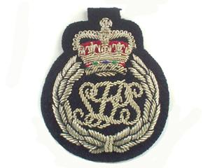 SOLOMON ISLAND POLICE CAP BADGE ON BLACK (4334438121544)