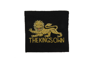 KING'S OWN REGIMENT BLAZER BADGE (4334345420872)