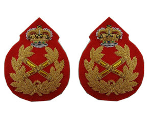 Field Marshal Rank Badge in Gilt with Queens Crown (4344138432584)