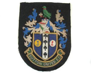 SUTTON UNITED FC BLAZER BADGE (4334388936776)