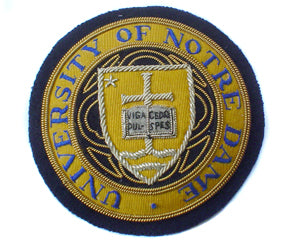 NOTRE DAME UNIVERSITY BLAZER BADGE (4334390902856)