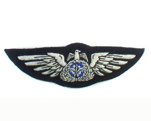 KUWAIT AIR FORCE FULL WINGS ON BLACK IN SILKS (4334420525128)