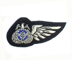 KUWAIT AIR FORCE HALF WING ON BLACK IN SILKS (4334420721736)