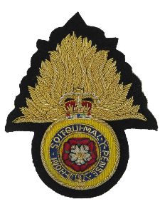 Royal Regimental Fusiliers Gold Flame Blazer Badge (4334575779912)