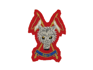 Scottish & North Irish Yeomanry Side Cap Badge (Scarlet)