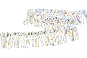 Silver thread Fringe (3/4 Inch) (4334636990536)