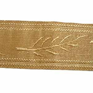 OMAN PALM LACE - 2 W/M GOLD 1 3/4