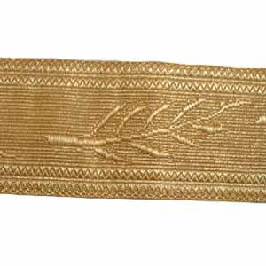OMAN PALM LACE - 2 W/M GOLD 1 3/4 (4334426456136)