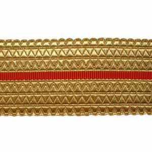 Gold/Red Belt Lace - 2 W/M Gold, 2 Inches (4344149737544)