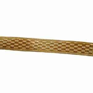 Basket Lace 1 Inch Gold Mylar (4344144560200)