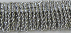 1 INCH DROP SILVER MYLAR THREAD FRINGE (HEAVY)