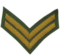 2 Bar Chevron Mess Dress Gold on Rifle Green (4344049041480)
