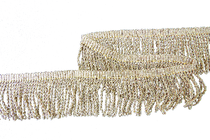 Gold Mylar thread fringe (2 inch drop)