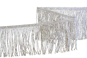 SILVER MYLAR THREAD FRINGE 3 INCH (70 mm)