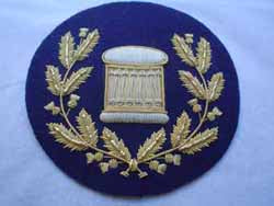Arm Drum Badge in Wreath on Navy (4334332149832)