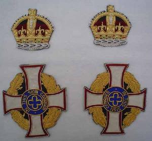 Royal Army Chaplain�s Scarf Badges with King's Crown (4344137646152)