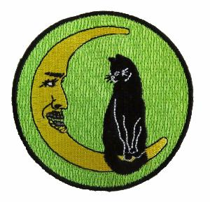 Halloween Cat In The Moon Fashion Patch (4334544814152)