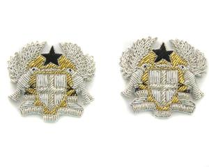 GHANA NAVY OFFICERS SHOULDER BOARD BADGES (4334416166984)