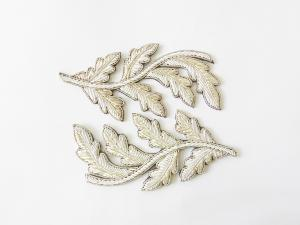 Repeat Pattern Oak Leaf (no acorn) Silver (4334446575688)