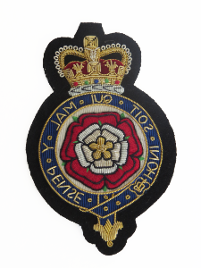 ROYAL FUSILIERS ROSE IN WREATH BLAZER BADGE (4334346797128)