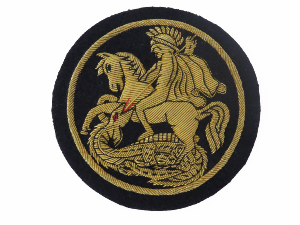 St George & Dragon Gold Blazer Badge (4334449426504)
