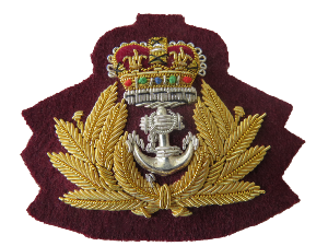 ROYAL NAVY OFFICERS BERET BADGE (4334453948488)
