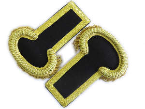 Theatre epaulettes gold on black (4334489305160)