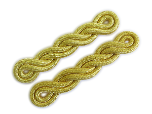 Shoulder Cords Double Twist Mylar Gold