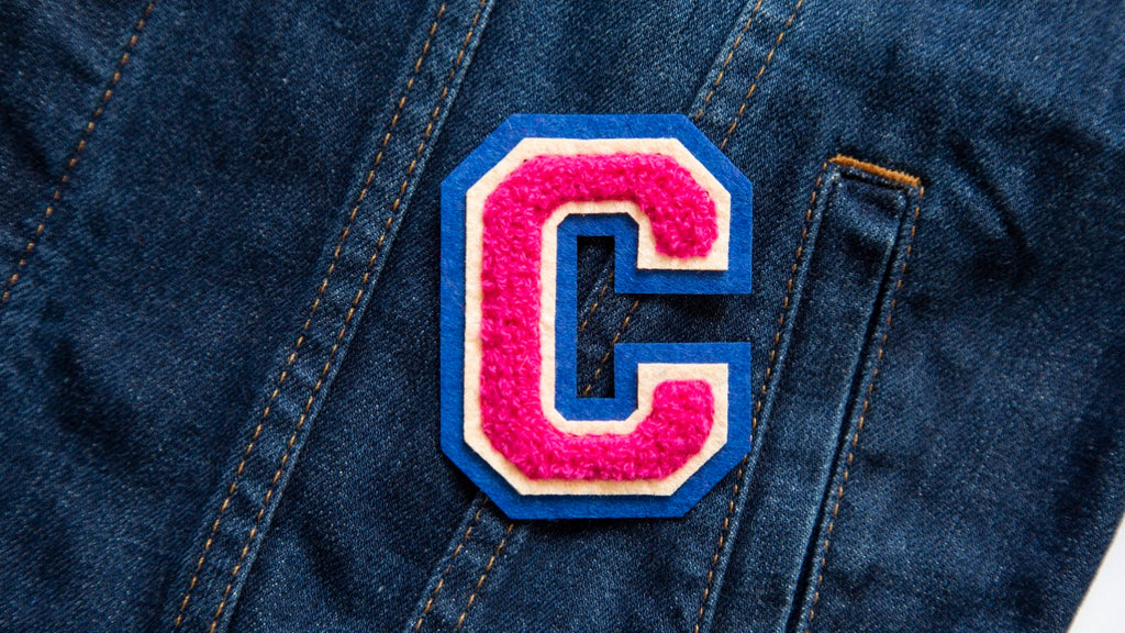 Varsity Letter 'C' Iron on Patch (4334526890056)