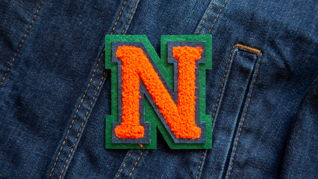 Varsity Letter 'N' Iron on Patch (4334527578184)