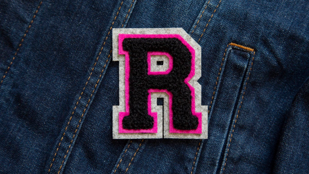 Varsity Letter 'R' Iron on Patch (4334526103624)