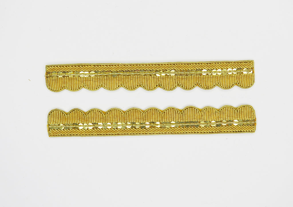 Repeat Pattern Coat Edging Gold (4334445953096)